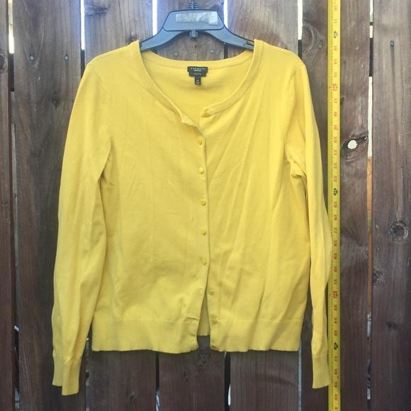 f74fb47973e Talbots Yellow Cardigan Sweater Medium Cute. M 5aa5e26ea825a672ba54737b